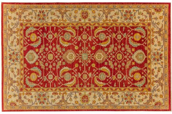 Afghan Chobi Ziegler 285x185 Handgeknüpft Teppich 190x290 Rot Orientalisch Kurzflor