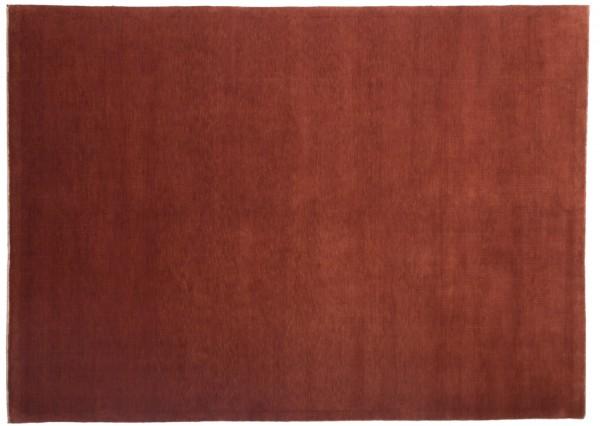 Loribaft 237x171 Handgeknüpft Teppich 170x240 Rot Einfarbig Kurzflor Orient Rug