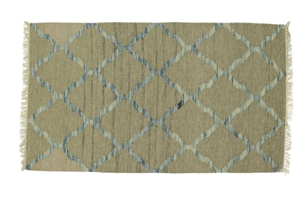 Kelim 180x120 Handgewebt Teppich 120x180 Grau Ornamente Handarbeit Orient Zimmer