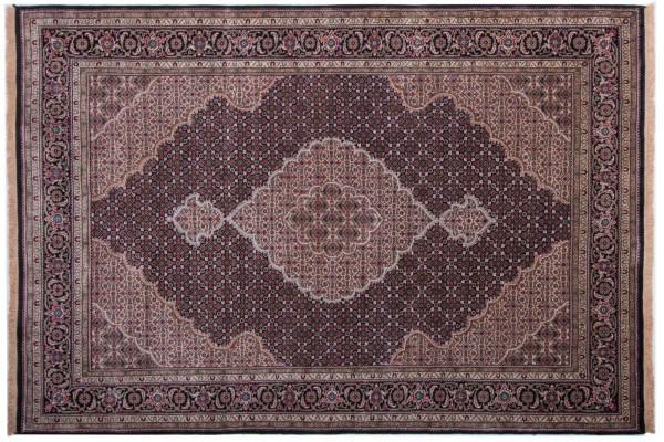Tabriz 271x187 Handgeknüpft Teppich 190x270 Mehrfarbig Orientalisch Kurzflor Orient Rug