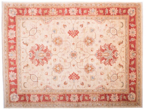 Afghan Chobi Ziegler Fein 197x150 Handgeknüpft Teppich 150x200 Rot Blumenmuster