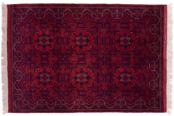 Afghan Belgique Khal Mohammadi 146x102 Handgeknüpft Teppich 100x150 Braun Geometrisch