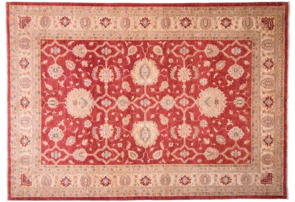 Afghan Chobi Ziegler Fein 295x210 Handgeknüpft Teppich 210x300 Rot Blumenmuster