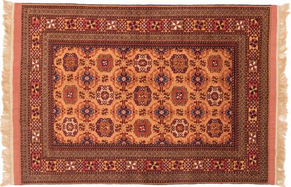 Afghan Mauri Kabul 157x113 Handgeknüpft Teppich 110x160 Orange Geometrisch Muster