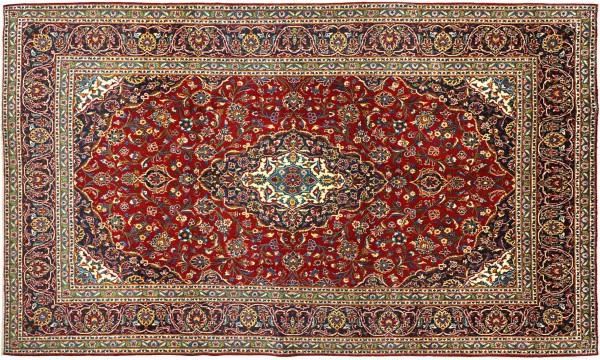 Kashan 350 x 250 Keshan Perserteppich 370x248 cm Handgeknüpft Oriental carpet
