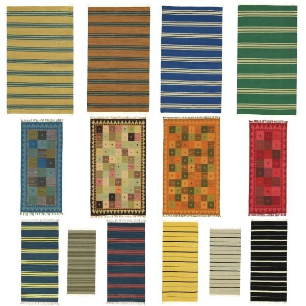 Kelims 70x140 120x180 160x230 Handgewebt Teppich Bunt versch. Muster Handarbeit Orient