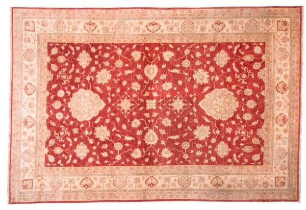 Afghan Chobi Ziegler Fein 310x209 Handgeknüpft Teppich 210x310 Rot Blumenmuster