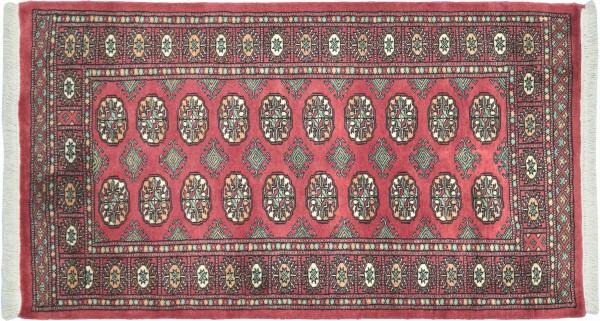 Pakistan Buchara 152x93 Handgeknüpft Teppich 90x150 Beige Geometrisch Muster Kurzflor