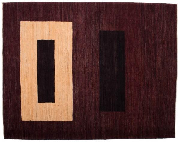 Afghan Modern Chobi Ziegler 194x152 Handgeknüpft Teppich 150x190 Braun Geometrisch