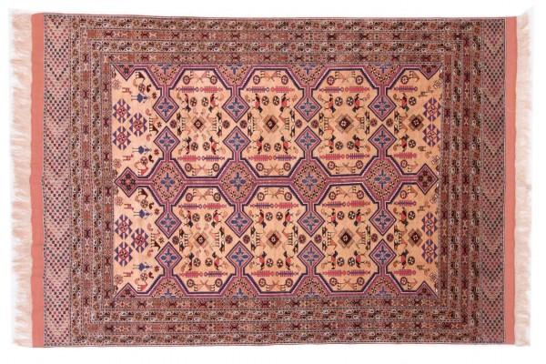 Afghan Mauri Kabul 280x198 Handgeknüpft Teppich 200x280 Rot Geometrisch Muster Kurzflor