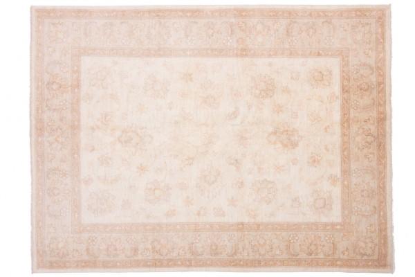 Afghan Chobi Ziegler 204x151 Handgeknüpft Teppich 150x200 Beige Blumenmuster Kurzflor