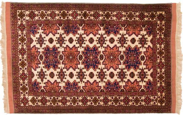 Afghan Mauri Kabul 170x114 Handgeknüpft Teppich 110x170 Rot Geometrisch Muster Kurzflor