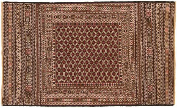 Afghan Mushwani Kelim 193x120 Handgewebt Teppich 120x190 Mehrfarbig Orientalisch