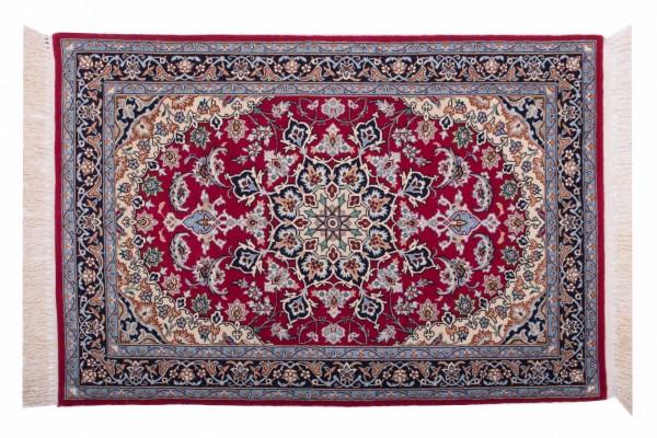 Perser Isfahan 104x70 Handgeknüpft Teppich 70x100 Mehrfarbig Orientalisch Kurzflor