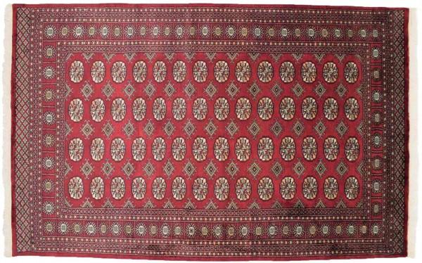 Pakistan Buchara 246x157 Handgeknüpft Teppich 160x250 Rot Geometrisch Muster Kurzflor