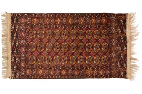 Kaukasus Buchara 197x112 Handgeknüpft Teppich 110x200 Mehrfarbig Orientalisch Kurzflor