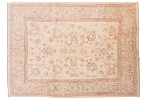Afghan Chobi Ziegler 202x150 Handgeknüpft Teppich 150x200 Beige Orientalisch Kurzflor
