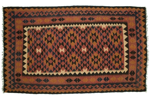 Afghan Maimana Kelim 257x158 Handgewebt Teppich 160x260 Mehrfarbig Orientalisch