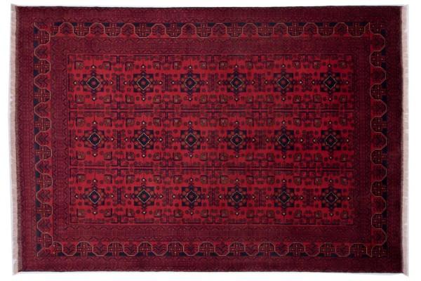 Afghan Khal Mohammadi Fein 286x198 Handgeknüpft Teppich 200x290 Rot Orientalisch