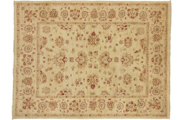 Afghan Chobi Ziegler 197x149 Handgeknüpft Teppich 150x200 Beige Orientalisch Kurzflor