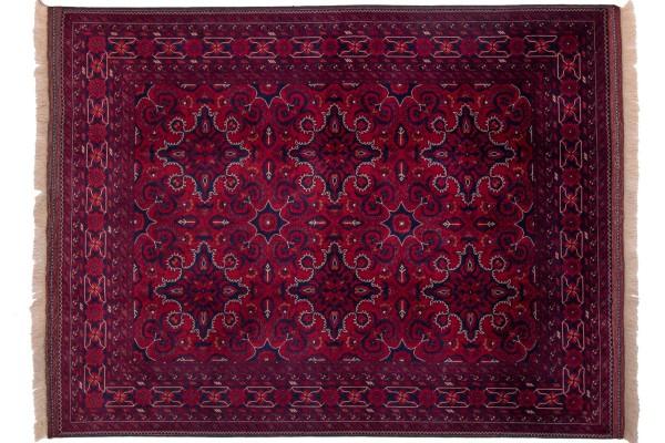 Afghan Belgique Khal Mohammadi 193x150 Handgeknüpft Teppich 150x190 Braun Geometrisch