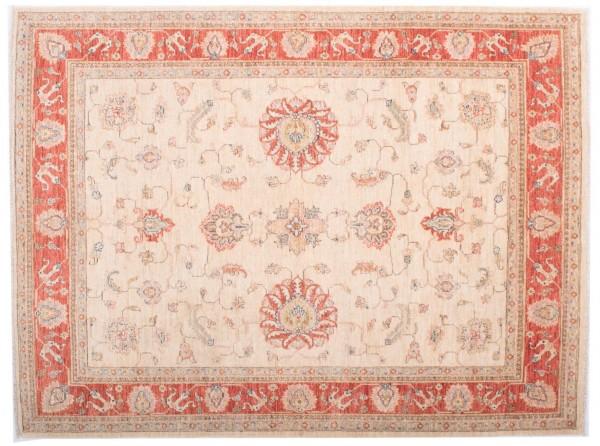 Afghan Chobi Ziegler Fein 193x145 Handgeknüpft Teppich 150x190 Beige Blumenmuster