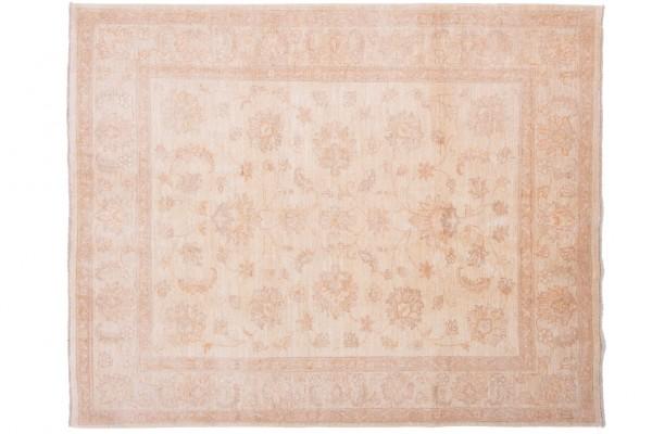 Afghan Chobi Ziegler 194x158 Handgeknüpft Teppich 160x190 Beige Orientalisch Kurzflor