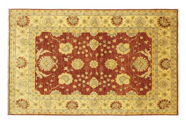 Afghan Chobi Ziegler 235x169 Handgeknüpft Teppich 170x240 Rot Floral Kurzflor Orient