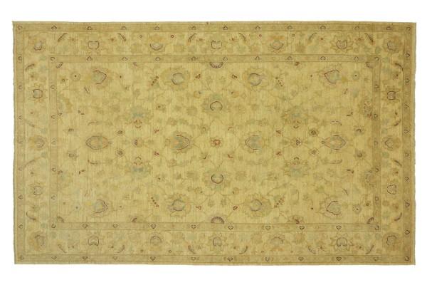 Afghan Chobi Ziegler 274x187 Handgeknüpft Teppich 190x270 Beige Floral Kurzflor Orient
