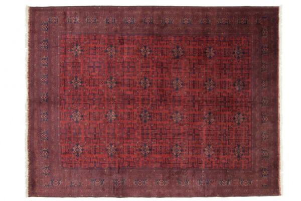 Afghan Khal Mohammadi 342x257 Handgeknüpft Teppich 260x340 Rot Geometrisch Muster