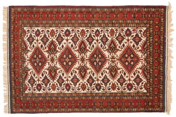 Afghan Mauri Kabul 206x150 Handgeknüpft Teppich 150x210 Rot Geometrisch Muster Kurzflor