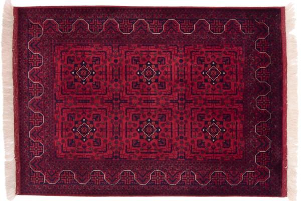Afghan Belgique Khal Mohammadi 146x103 Handgeknüpft Teppich 100x150 Braun Geometrisch