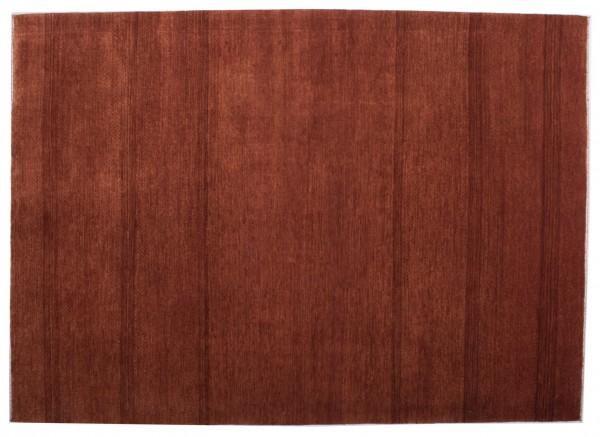 Loribaft 202x145 Handgeknüpft Teppich 150x200 Orange Einfarbig Kurzflor Orient Rug