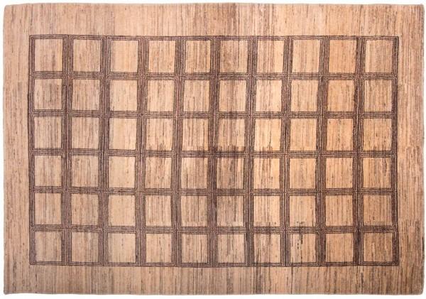 Afghan Modern Chobi Ziegler 269x189 Handgeknüpft Teppich 190x270 Beige Geometrisch