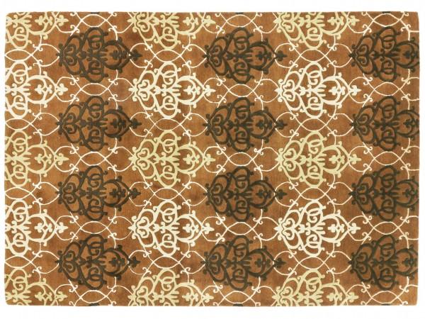 Handgefertigter Teppich 340x240 Handgetuftet Handarbeit 240x340 Braun Abstrakt Handtuft