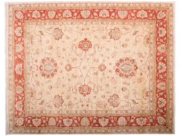 Afghan Chobi Ziegler Fein 193x156 Handgeknüpft Teppich 160x190 Rot Blumenmuster
