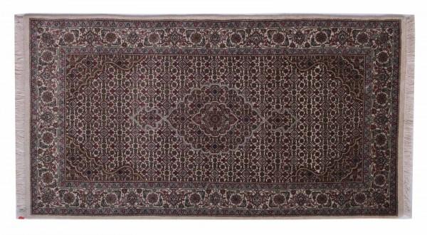 Tabriz 14/70 157x84 Handgeknüpft Teppich 80x160 Grau Orientalisch Kurzflor Orient Rug