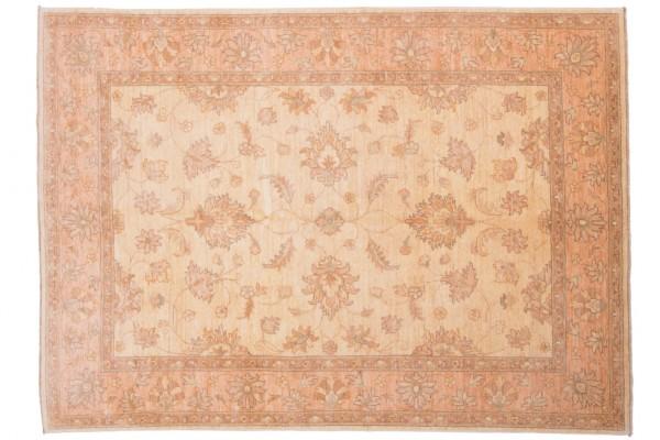 Afghan Chobi Ziegler 206x148 Handgeknüpft Teppich 150x210 Beige Orientalisch Kurzflor