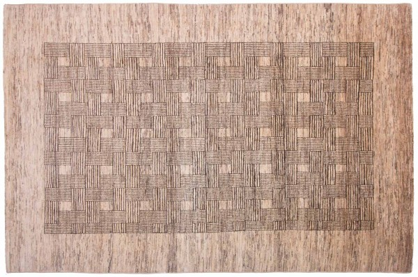 Afghan Modern Chobi Ziegler 298x199 Handgeknüpft Teppich 200x300 Beige Geometrisch