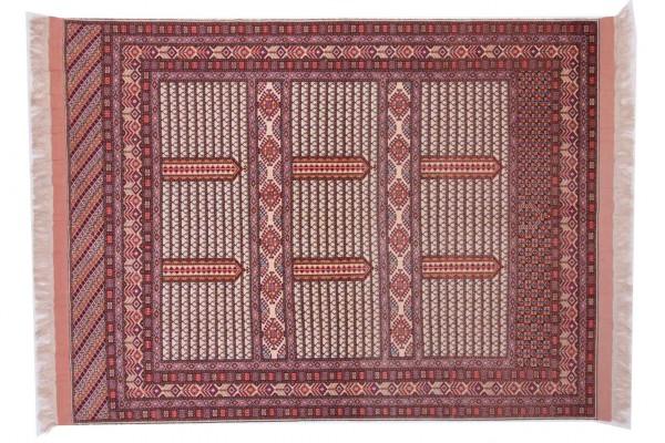 Afghan Mauri Kabul 281x217 Handgeknüpft Teppich 220x280 Mehrfarbig Geometrisch Muster