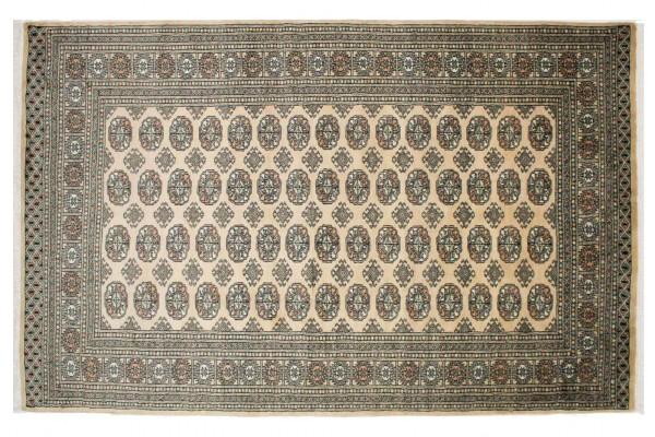 Pakistan Buchara 246x156 Handgeknüpft Teppich 160x250 Beige Geometrisch Muster Kurzflor