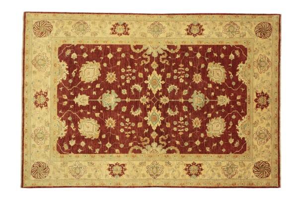 Afghan Chobi Ziegler 280x207 Handgeknüpft Teppich 210x280 Rot Floral Kurzflor Orient