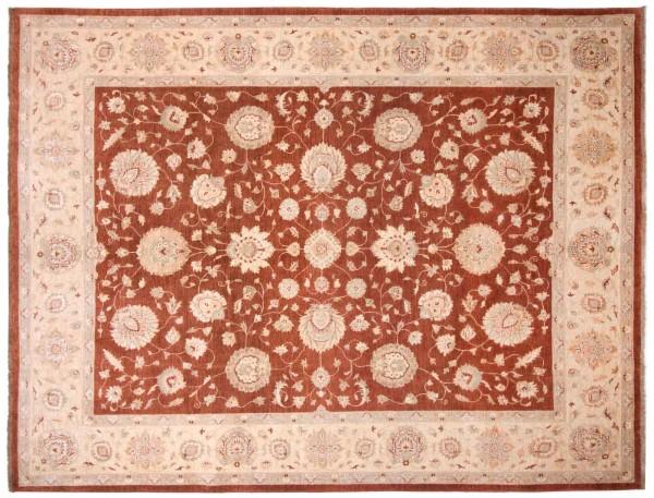 Afghan Chobi Ziegler 318x254 Handgeknüpft Teppich 250x320 Rot Orientalisch Kurzflor
