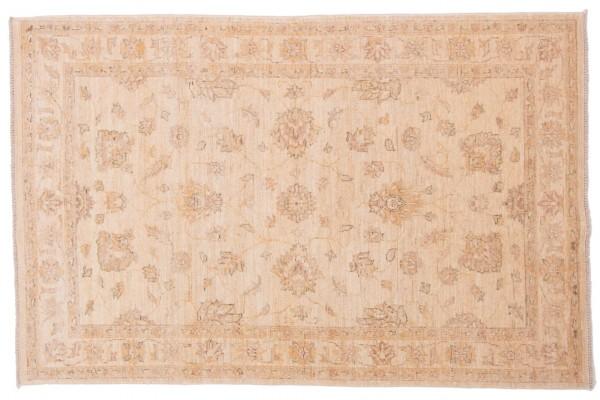 Afghan Chobi Ziegler 183x120 Handgeknüpft Teppich 120x180 Beige Orientalisch Kurzflor