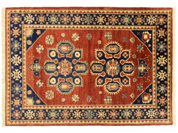 Afghan Chobi Ziegler 175x121 Handgeknüpft Teppich 120x180 Rot Orientalisch Kurzflor