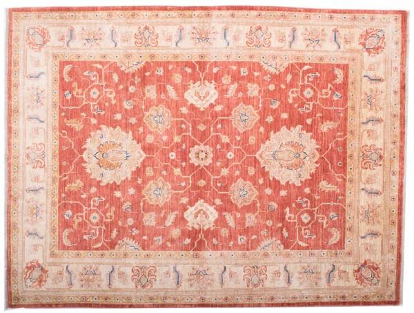 Afghan Chobi Ziegler Fein 195x150 Handgeknüpft Teppich 150x200 Rot Blumenmuster