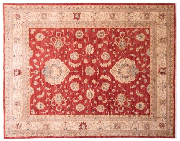 Afghan Chobi Ziegler Fein 241x191 Handgeknüpft Teppich 190x240 Rot Blumenmuster