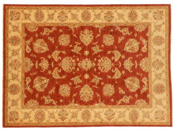 Afghan Chobi Ziegler 237x177 Handgeknüpft Teppich 180x240 Rot Blumenmuster Kurzflor