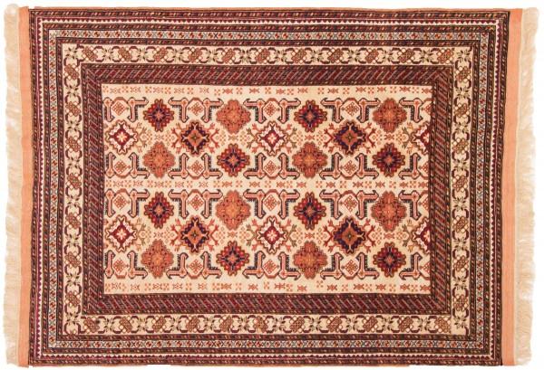 Afghan Mauri Kabul 150x116 Handgeknüpft Teppich 120x150 Beige Geometrisch Muster