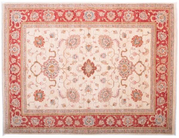 Afghan Chobi Ziegler Fein 194x149 Handgeknüpft Teppich 150x190 Beige Blumenmuster